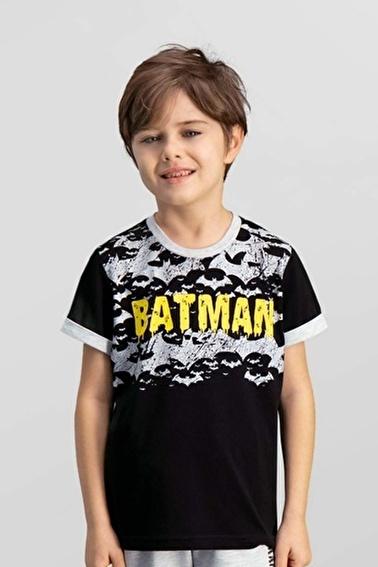 Batman Batman Lisanslı Grimelanj Erkek Çocuk T-Shirt Siyah